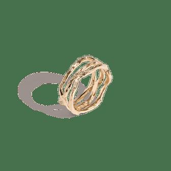 Venus Tri Gold Ring
