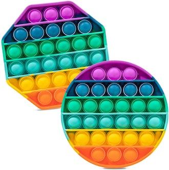 iBaste Push Pop Pop Bubble Toys (2-Pack)