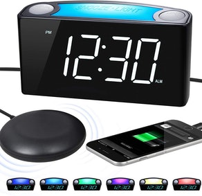 ROCAM Extra Loud Alarm Clock with Bed Shaker