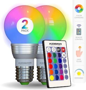Kobra LED Color Changing Light Bulbs (2 Pack)