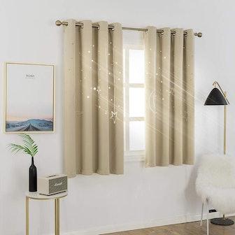 MANGATA CASA Blackout Curtains with Galaxy Cutouts