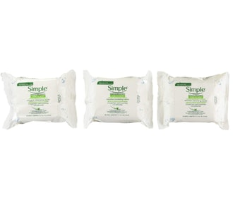 Simple Micellar Makeup Remover Wipes (3 Pack)