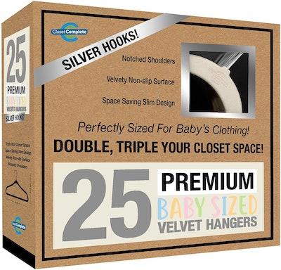 Closet Complete Baby Velvet Hangers (Pack of 25)