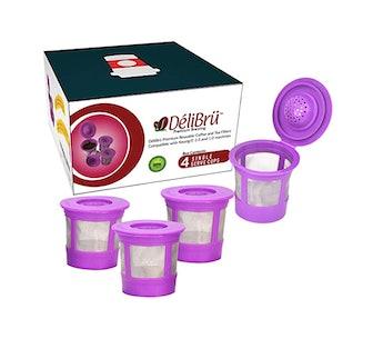 Delibru Reusable K Cups (4-Pack)