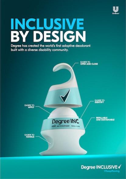 Image of the new Degree Inclusive deodorant.