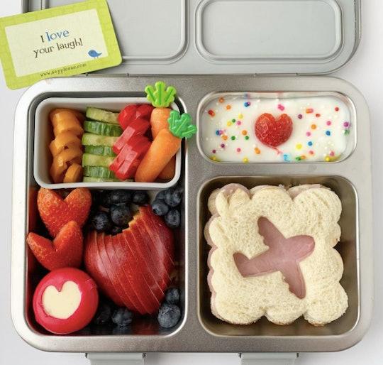 An airplane sandwich bento box