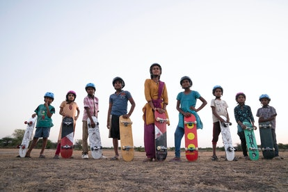'Skater Girl' follows a teenage girl from rural India as she develops a passion for skateboarding. Photo via Netflix