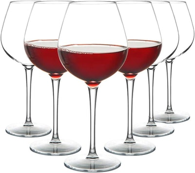 MICHLEY Unbreakable Red Wine Glasses 17 oz (6-Pack)