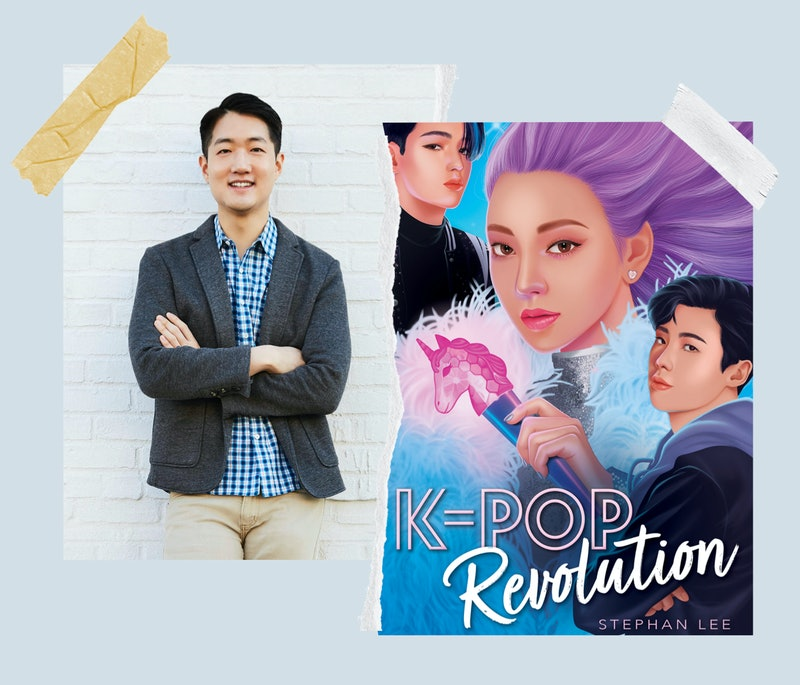 Author Stephan Lee with the cover of his book, 'K-Pop Revolution.'