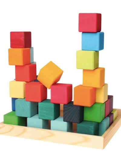 Rainbow Wooden Cubes