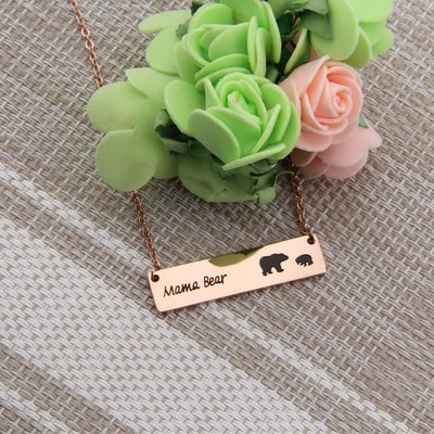 ENSIANTH Mama Bear Necklace