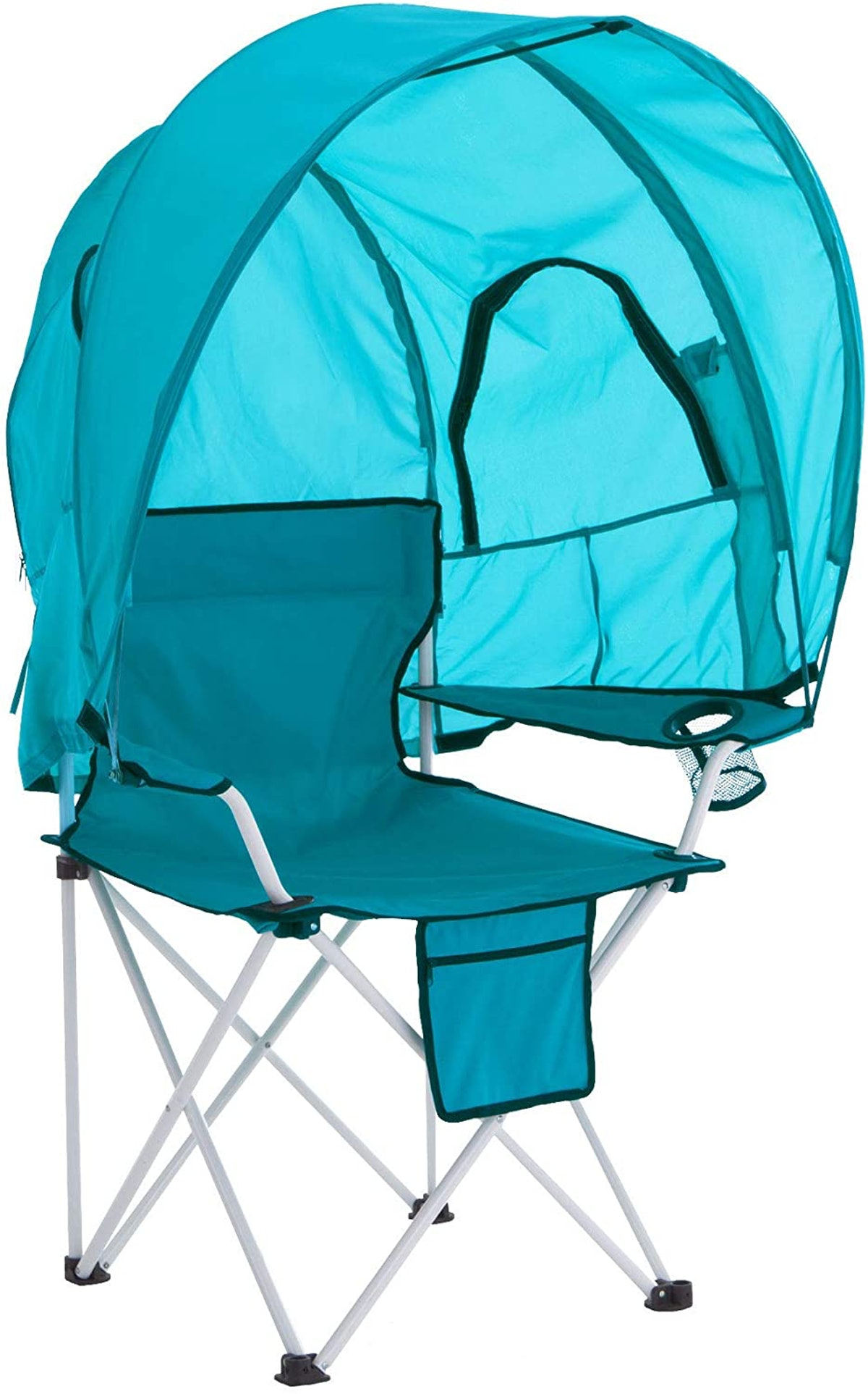 BrylaneHome Camp Chair With Canopy
