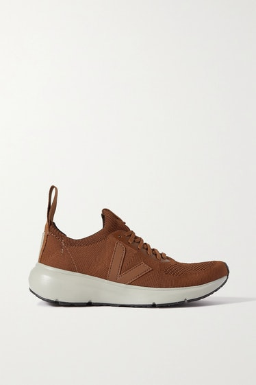 Low Sock Rubber-Trimmed V-Knit Sneakers