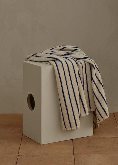 Striped organic cotton bath towel