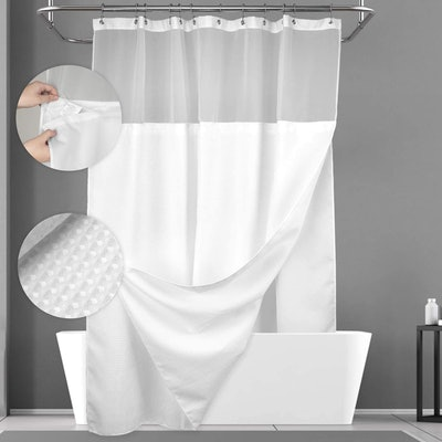 N&Y HOME Shower Curtain with Snap-in Fabric Liner