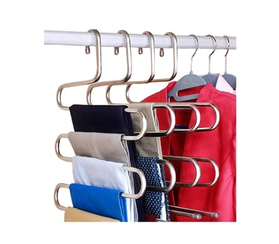 DOIOWN S-Type Stainless Steel Clothes Hangers (3-Pack)