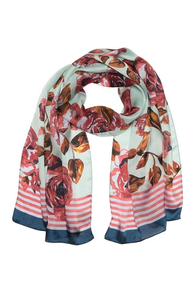 Vince Camuto Roses Oblong Silk Scarf