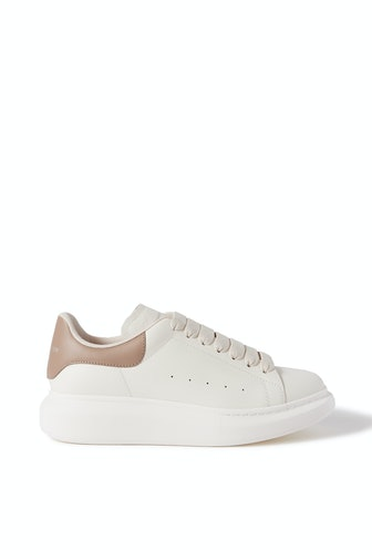 Leather Exaggerated-Sole Sneakers