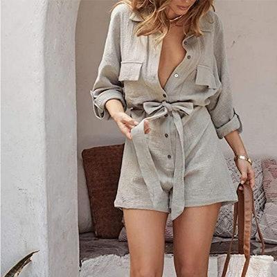 Fixmatti Linen Button Down Outfit