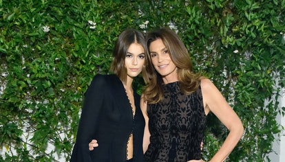 Kaia Jordan Gerber (L) and Cindy Crawford attend A Sense Of Home's First Ever Annual Gala - The Back...