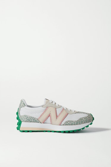 238 Suede-Trimmed Logo-Jacquard and Leather Sneakers