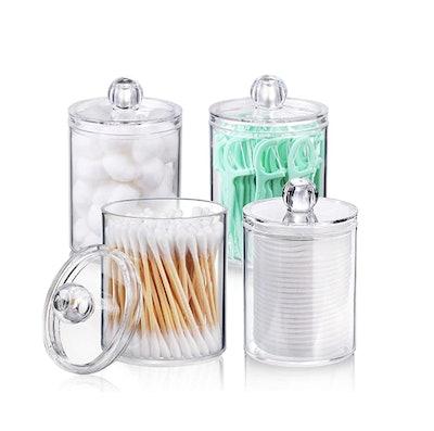 AOZITA Clear Plastic Apothecary Jar