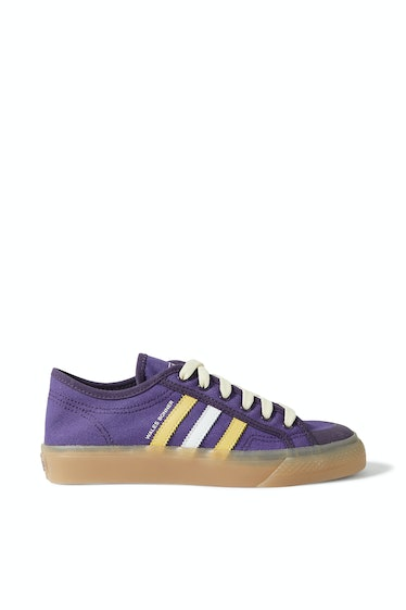 Nizza Leather-Trimmed Canvas Sneakers