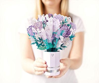 Lovepop Purple Rose Bouquet