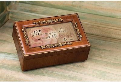 Woodgrain Jewelry and Music Box