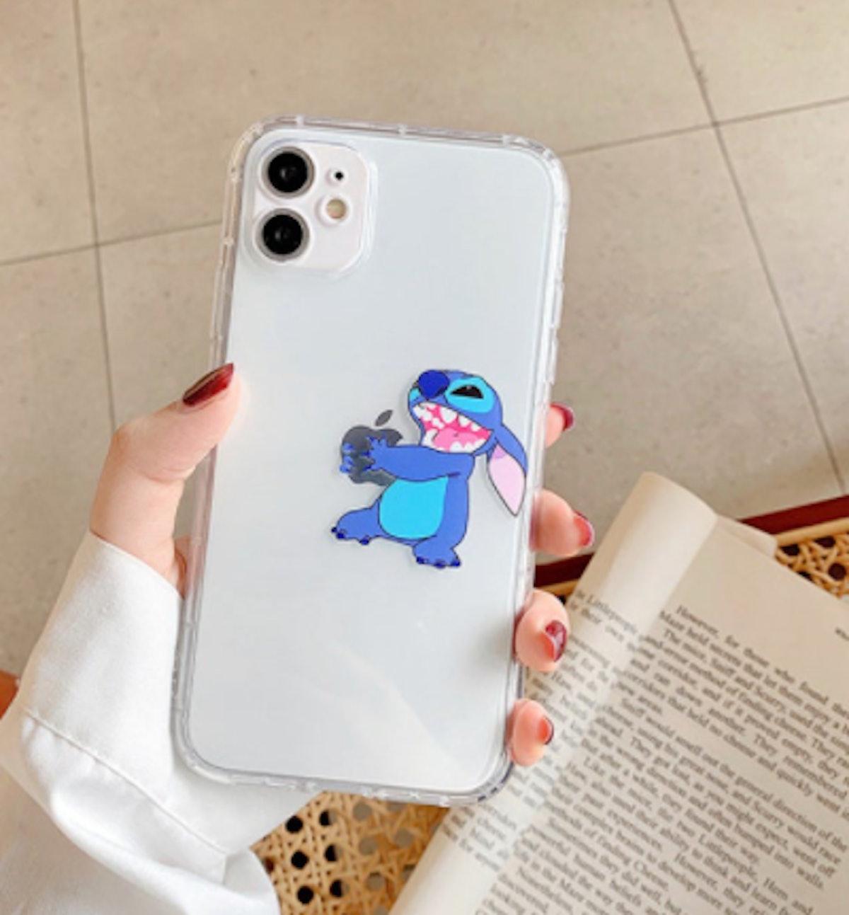 Disney Stitch Clear Soft Phone Case For iPhone
