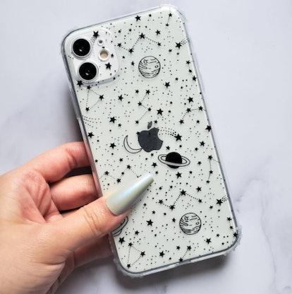 Doodle Planet Clear iPhone Case