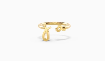 Open Love Letters Ring