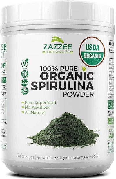 Zazzee 100% Pure Organic Spirulina Powder (35.2 Oz.)