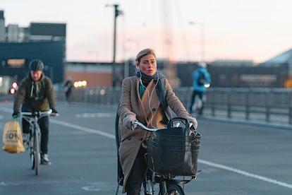 woman on bike benefits of bicycling