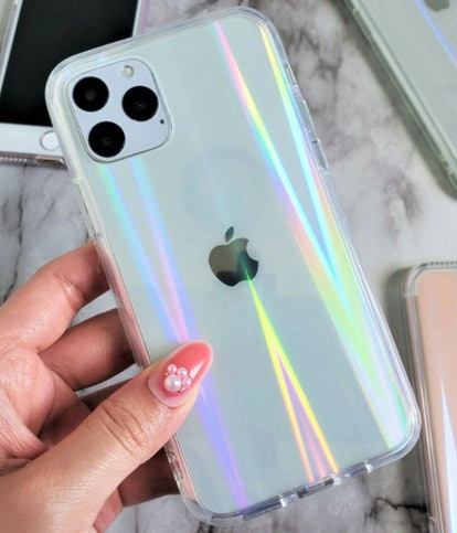 Holographic Transparent Clear iPhone Case