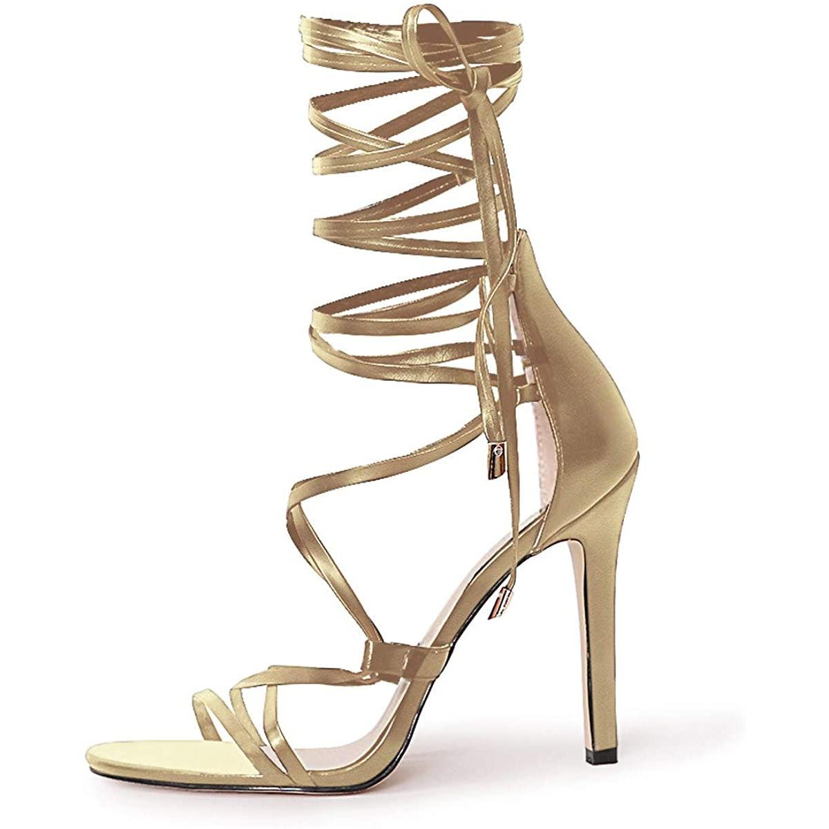 Richealnana Gladiator Stiletto Sandals