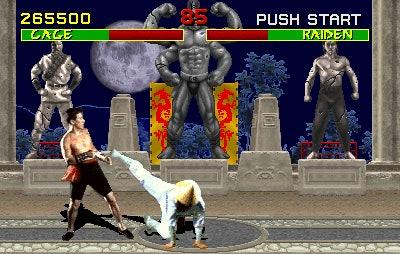 'Mortal Kombat' 1992 video game Johnny Cage Raiden