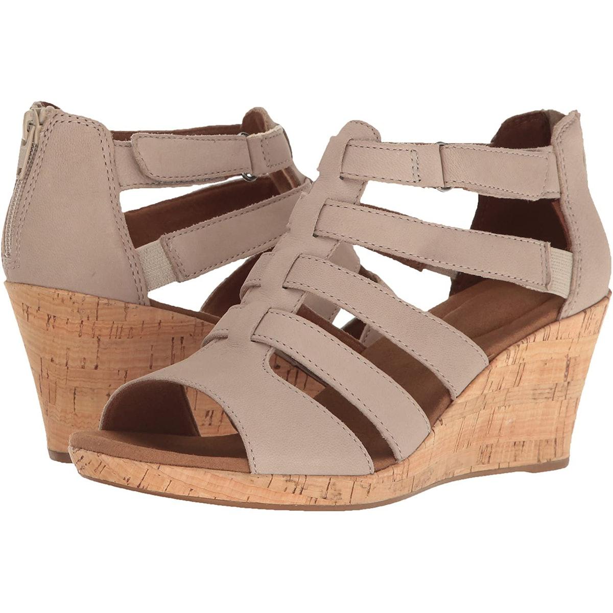 Rockport Briah Gladiator Wedge Sandals