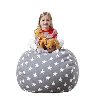 Aubliss Stuffed Animal Bean Bag Storage Chair