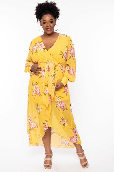 Maternity Elliana Floral Chiffon Dress