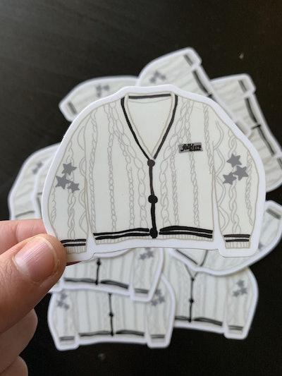 Cardigan Sticker