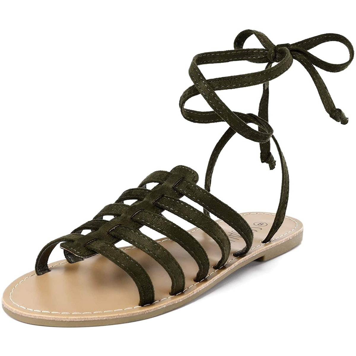SANDALUP Lace-Up Flat Gladiator Sandals