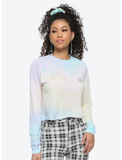 Taylor Swift Me! Pastel Tie-Dye Girls Crop Long-Sleeve T-Shirt