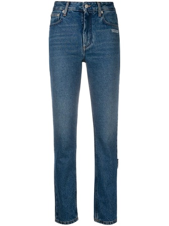 Logo-Embroidered Straight-Leg Jeans