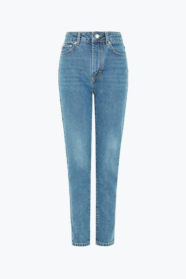 Tara Tapered Jeans in Dark Blue