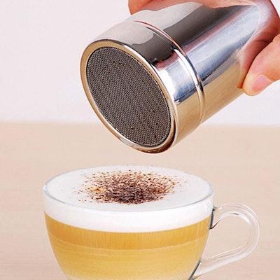 Pengxiaomei Stainless Steel Powder Shaker & Coffee Design Kit (16-PCS)