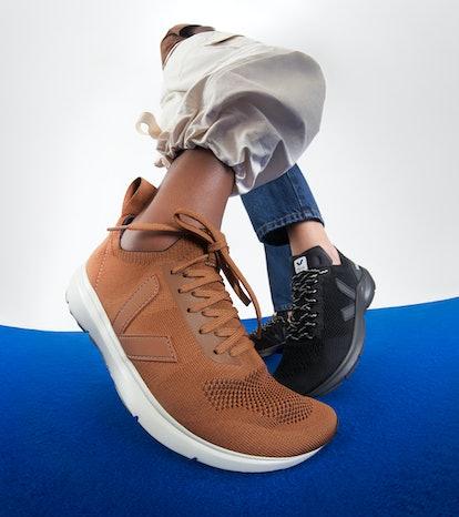 Models wearing Veja sneakers for NET-A-PORTER sneaker campaign.