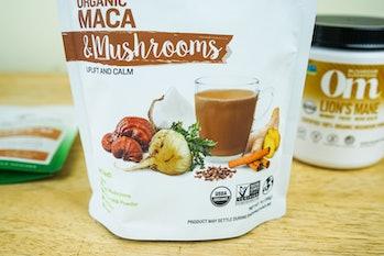 sunfood superfood maca and mushrooms packet