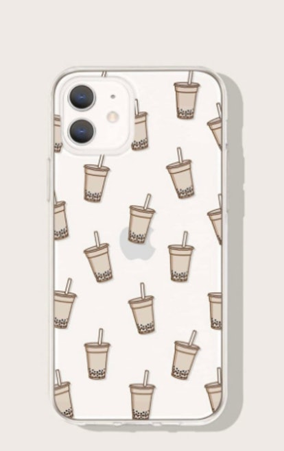 Cute Aesthetic Bubble Tea Clear iPhone Case