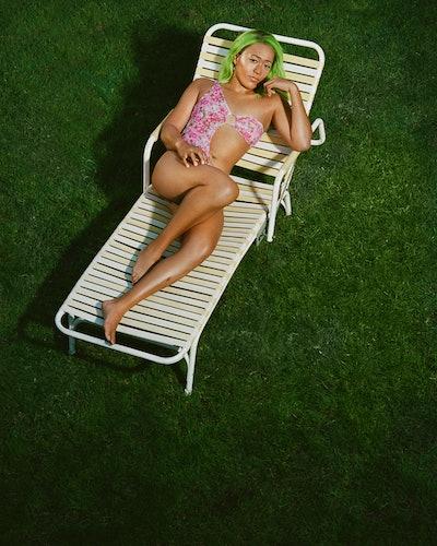 Naomi Osaka wearing a swimsuit from Frankies Bikinis x Naomi Osaka.